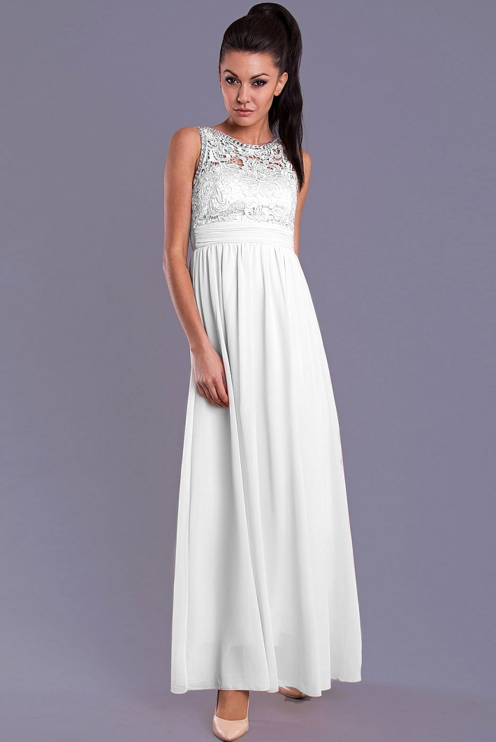 EVA & LOLA DRESS WHITE 7815-4