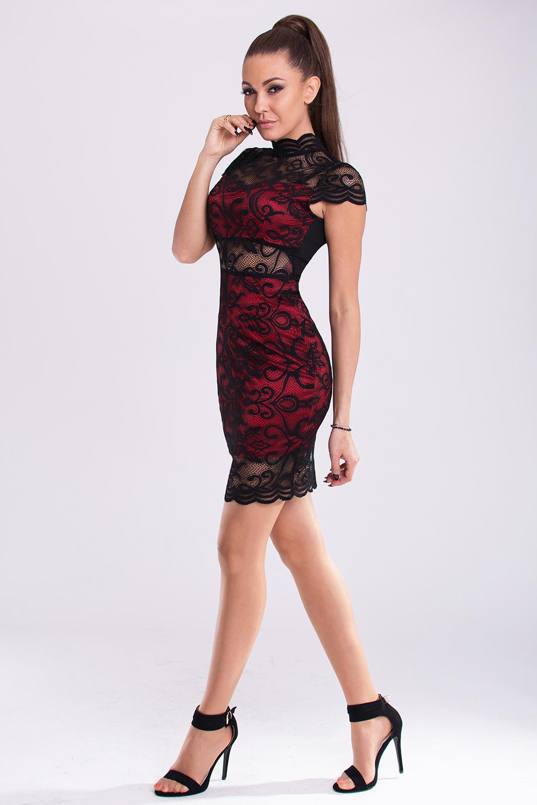 EMAMODA punane / must kleit