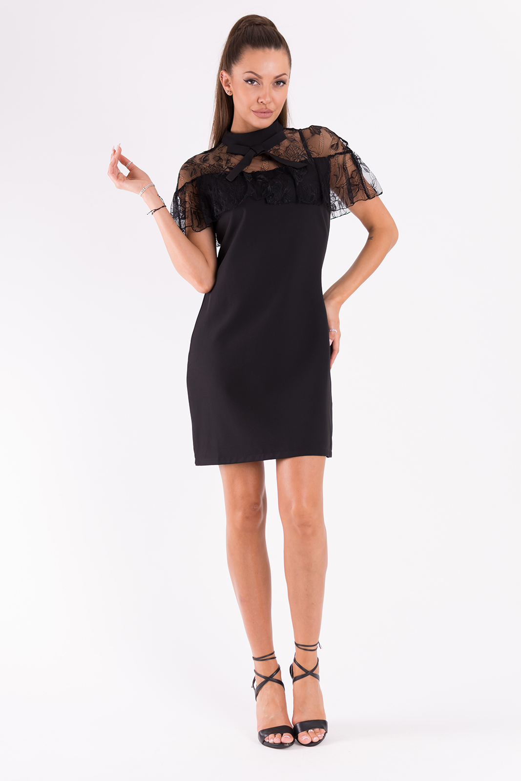 SOKY SOKA  DRESS BLACK 49007-1