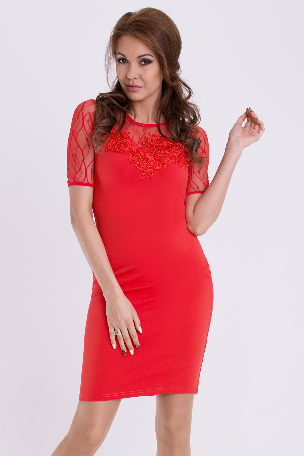 EMAMODA DRESS - RED 13006-2