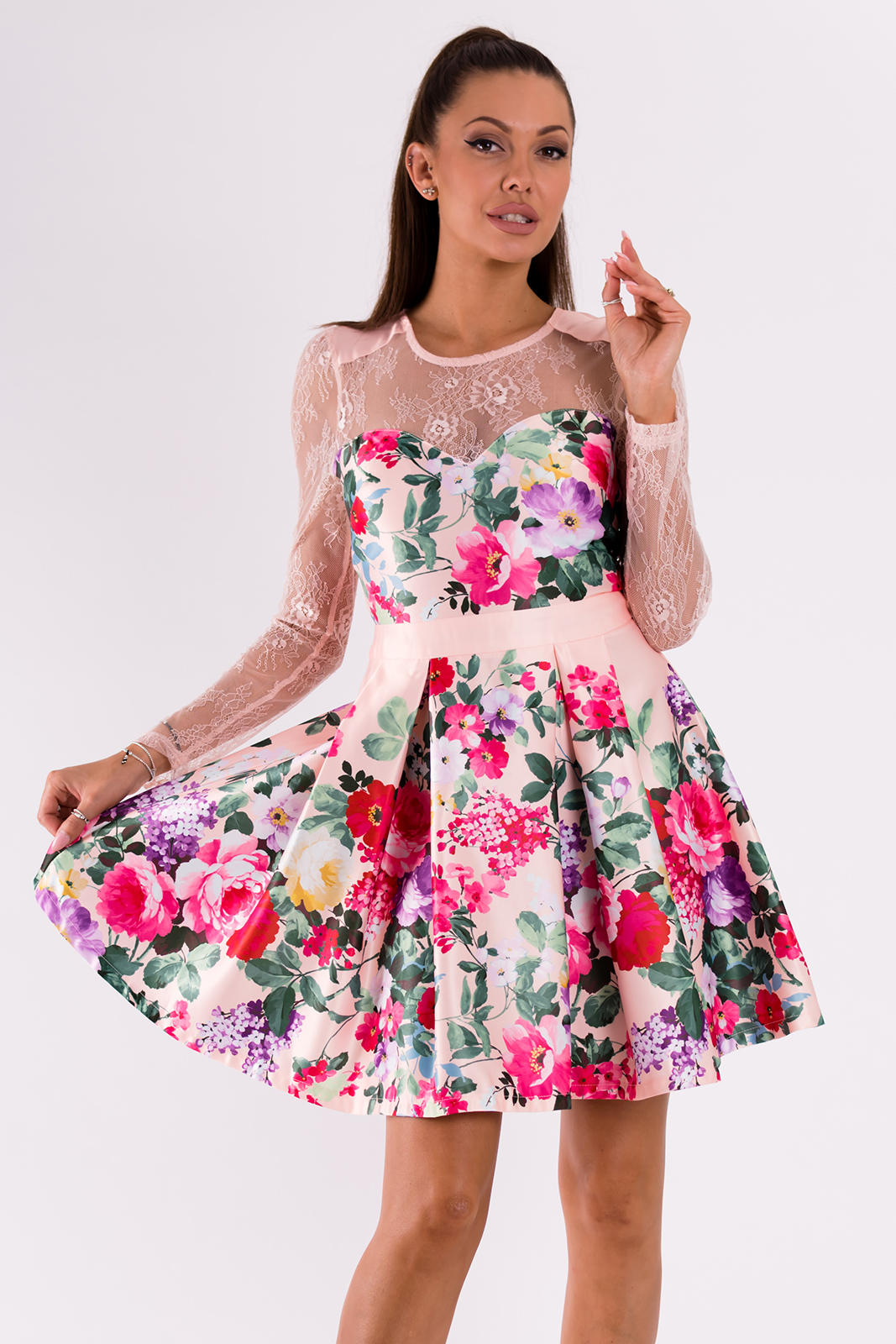 SOKY SOKA  roosa lilleline kle..