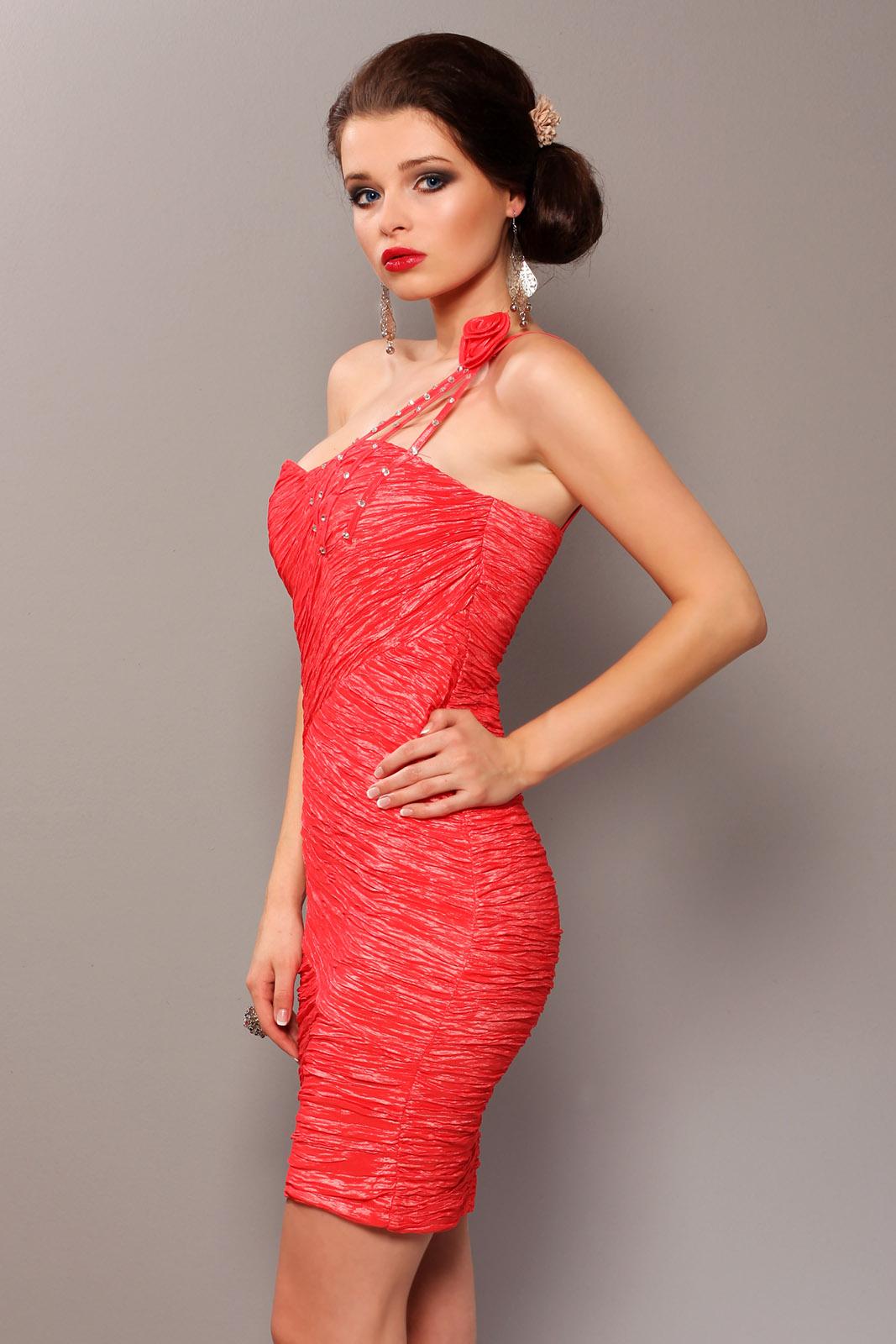 Elegantne roosiga kleit