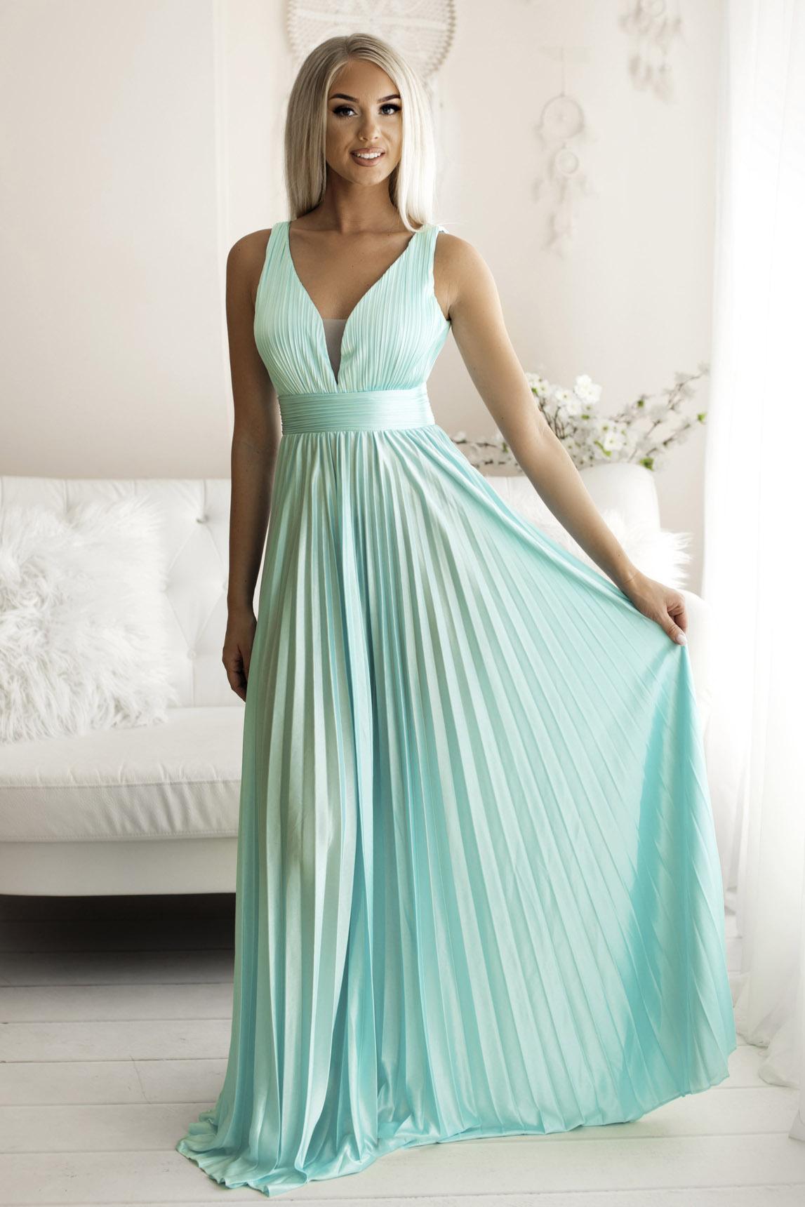 SENAT PLEATED  türkiis kleit