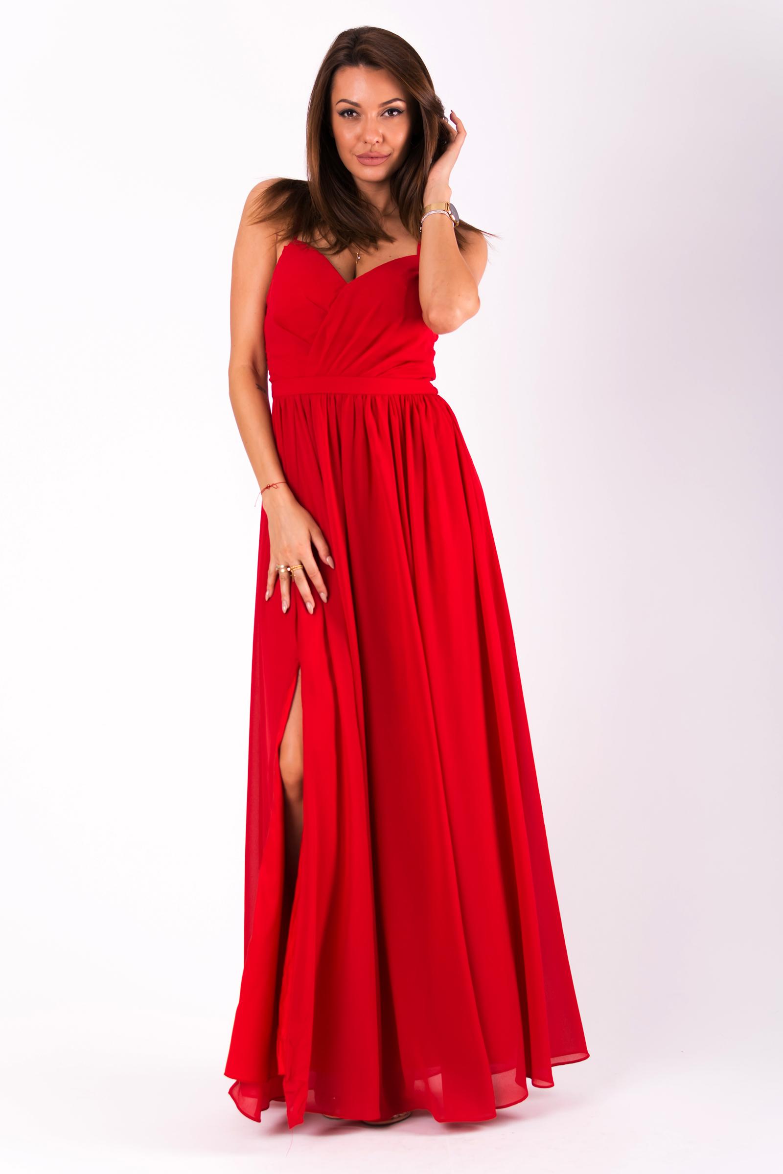 EVA & LOLA DRESS RED 51008-1
