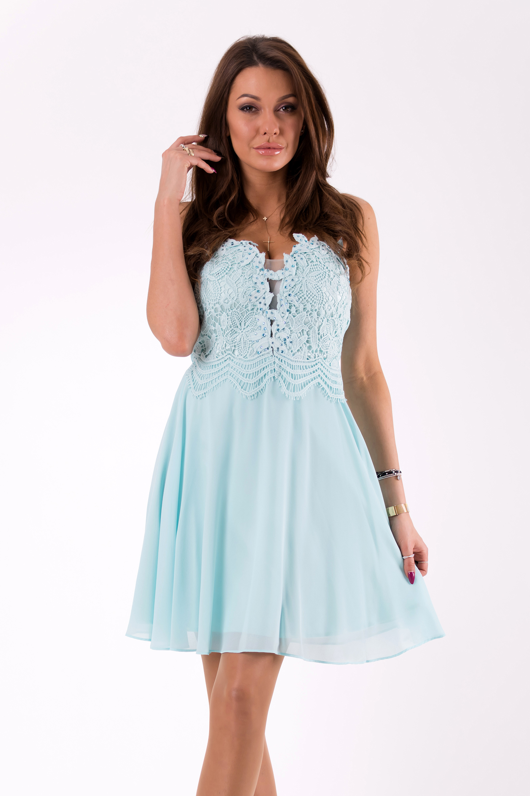EVA&LOLA  DRESS blue 46040-2
