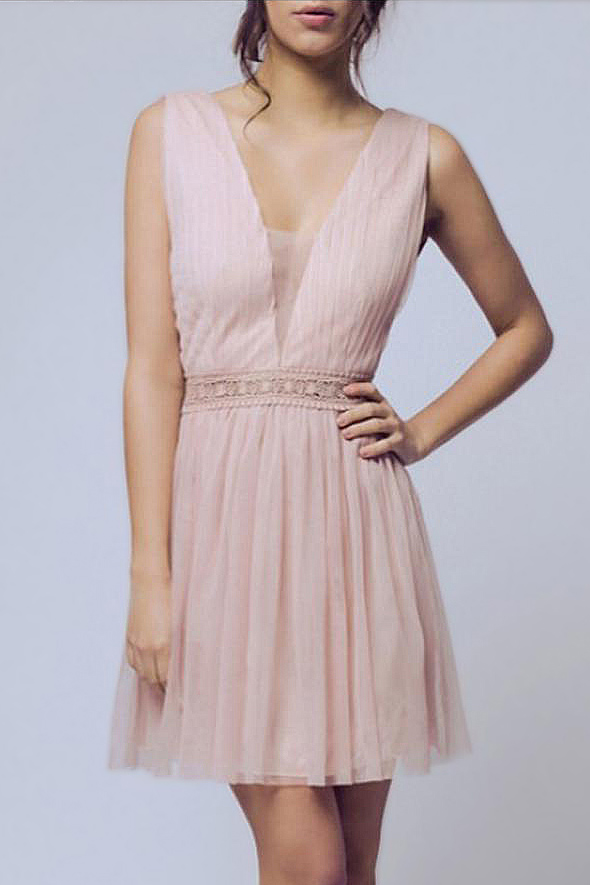 SOKY SOKA kleit - NUDE