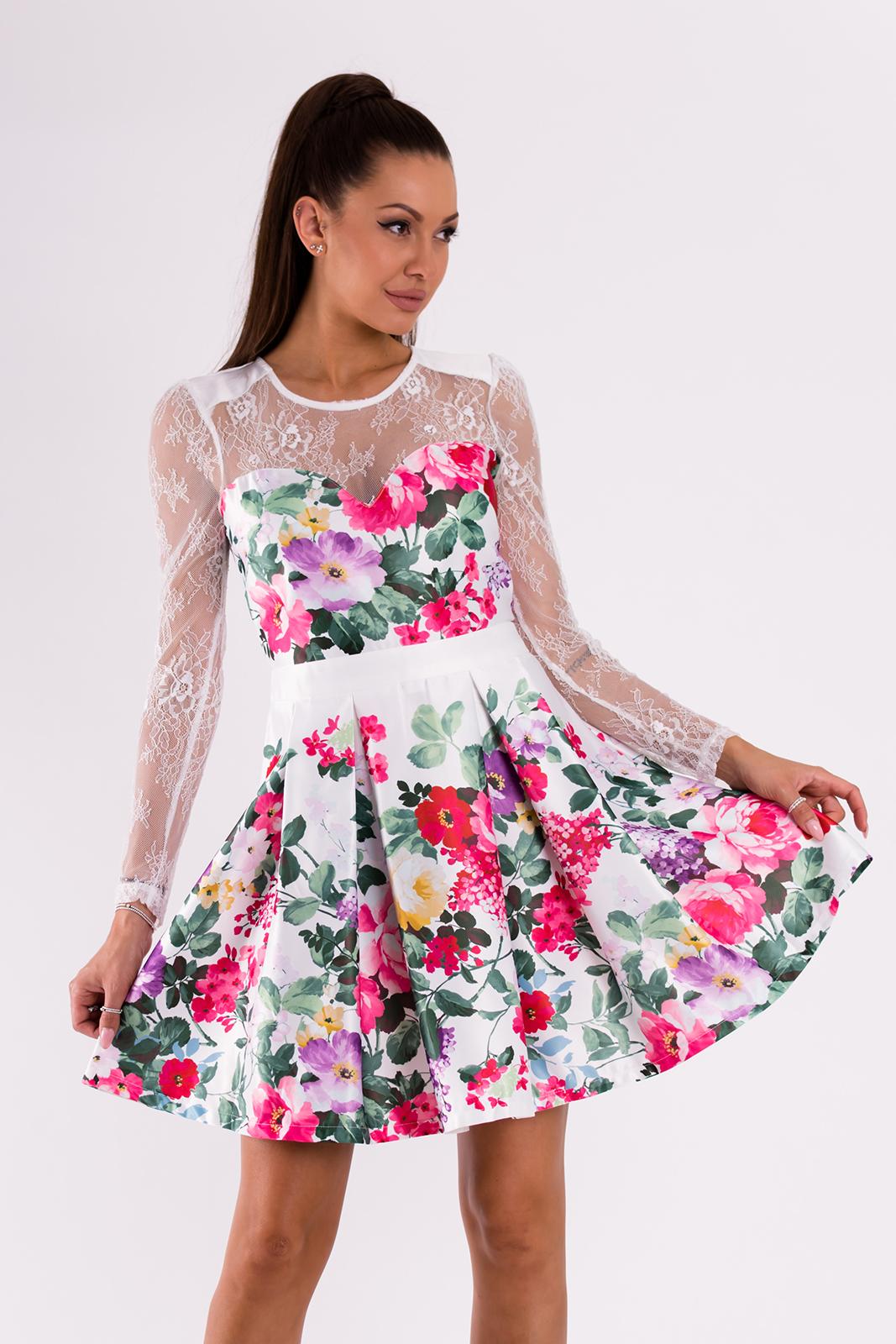 SOKY SOKA  valge lilleline kleit