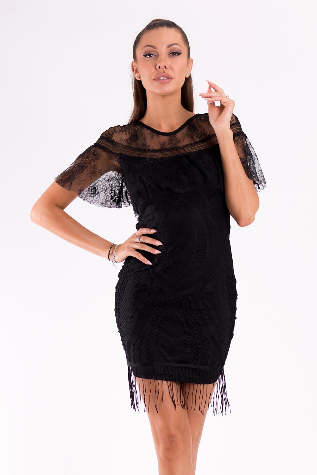 SOKY SOKA  DRESS BLACK 49010-1