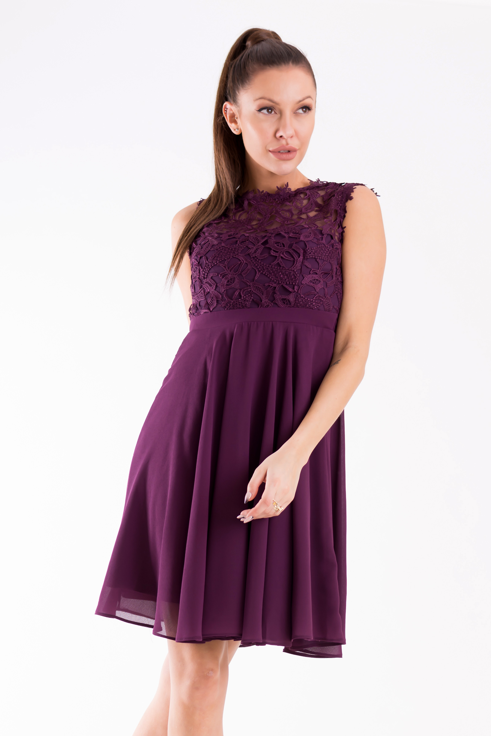 EVA & LOLA DRESS plum 26012-11