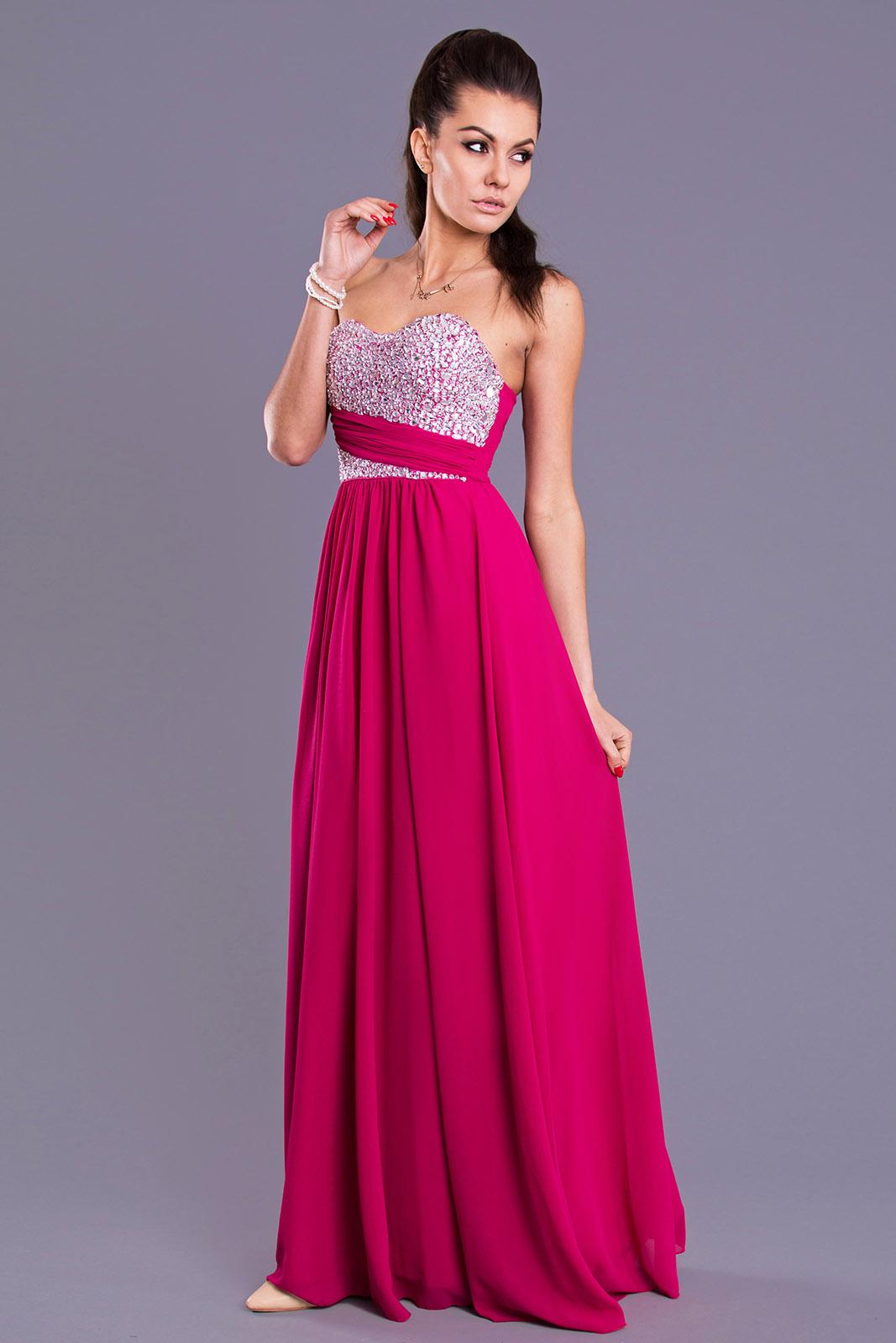 EVA & LOLA DRESS - FUCHSIA 7816-3