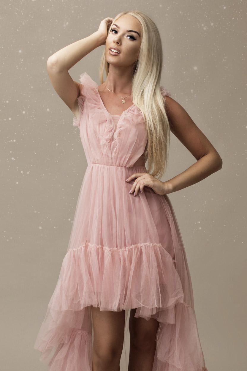 SENAT PRINCESS roosa kleit