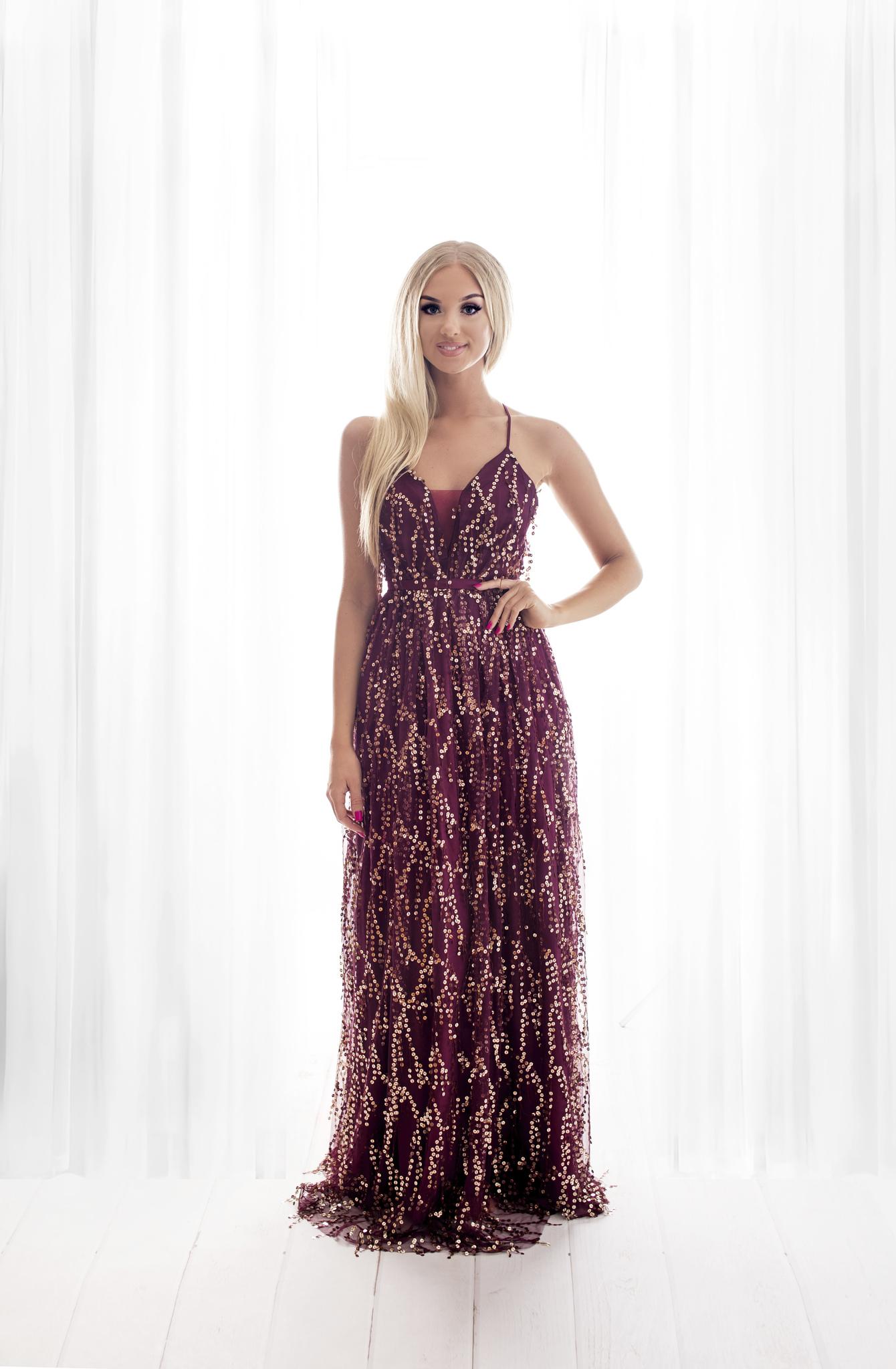 SENAT SEQUINS  veinipunane kleit