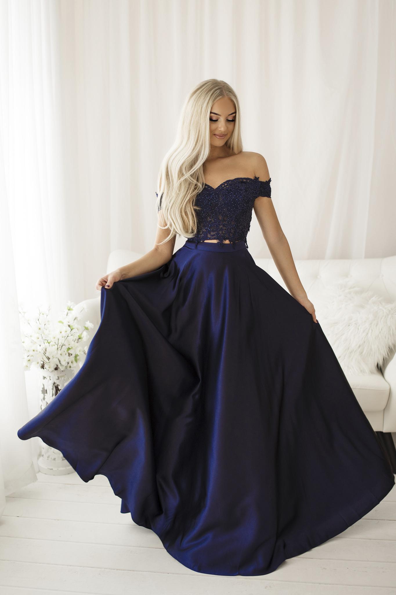 SENAT CORSET DRESS NAVY BLUE 68002-3