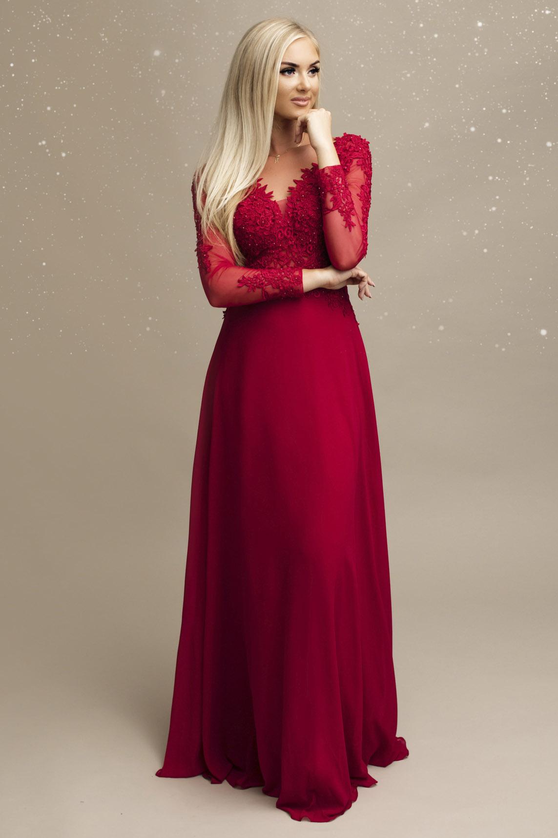 SENAT pitsiga punane kleit