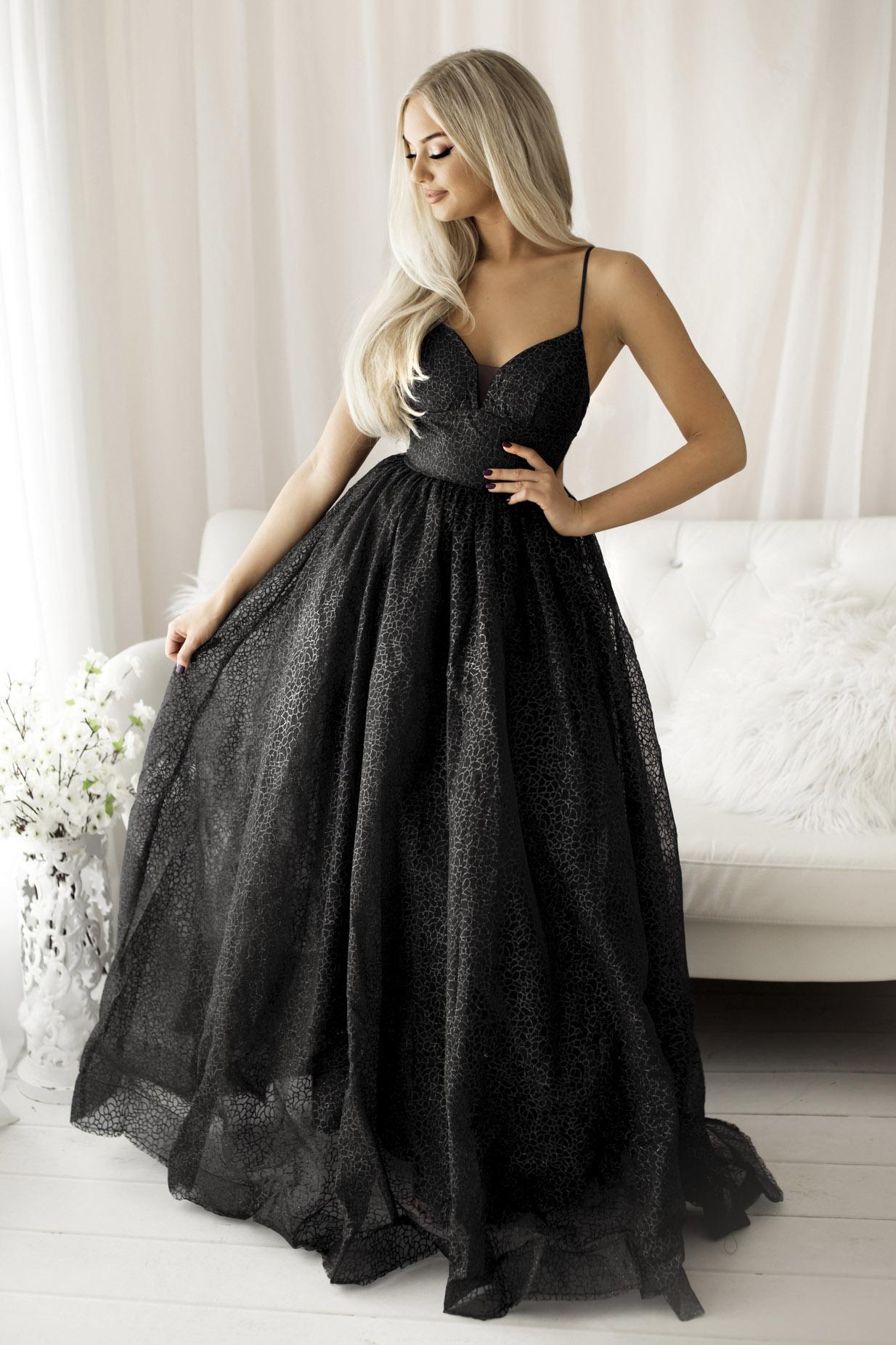 SENAT QUEEN  DRESS BLACK 68003..