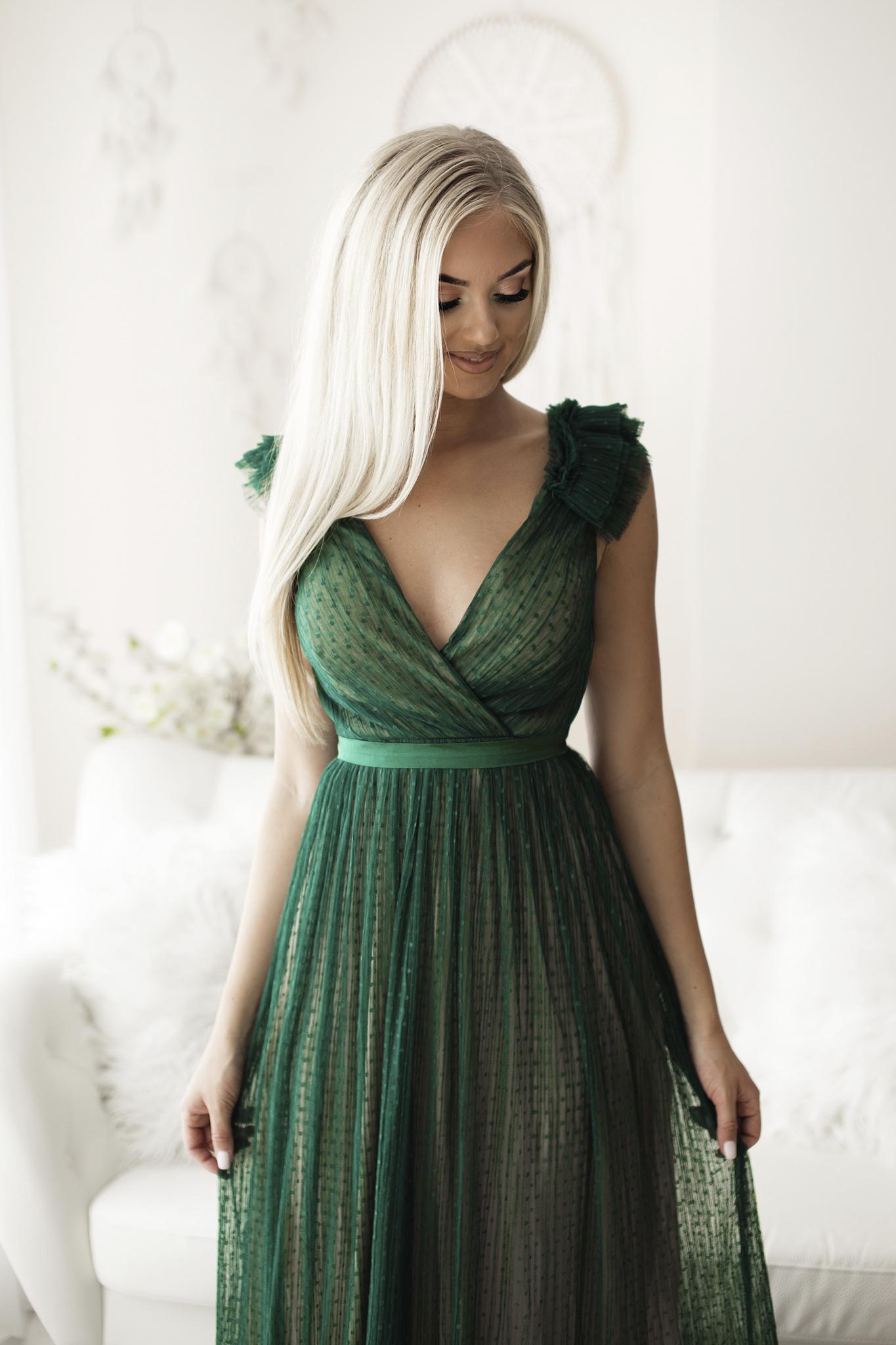 SENAT DIGNIFIED roheline kleit