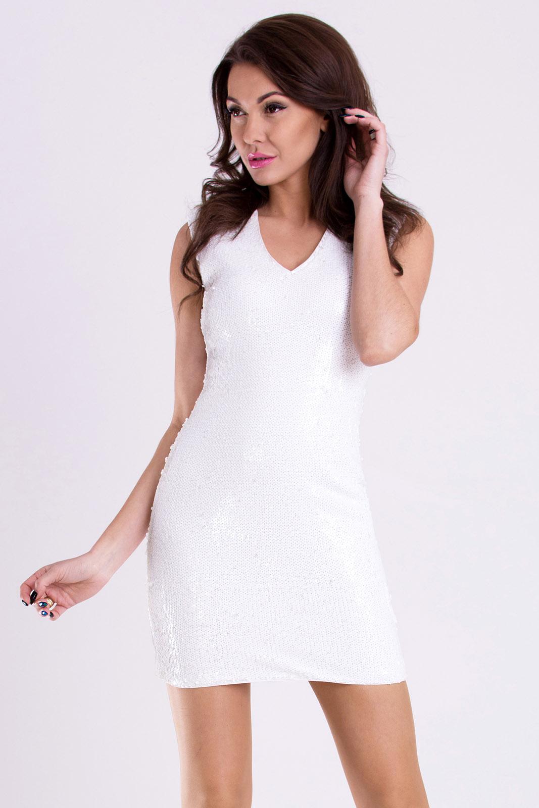PINK BOOM  valge kleit