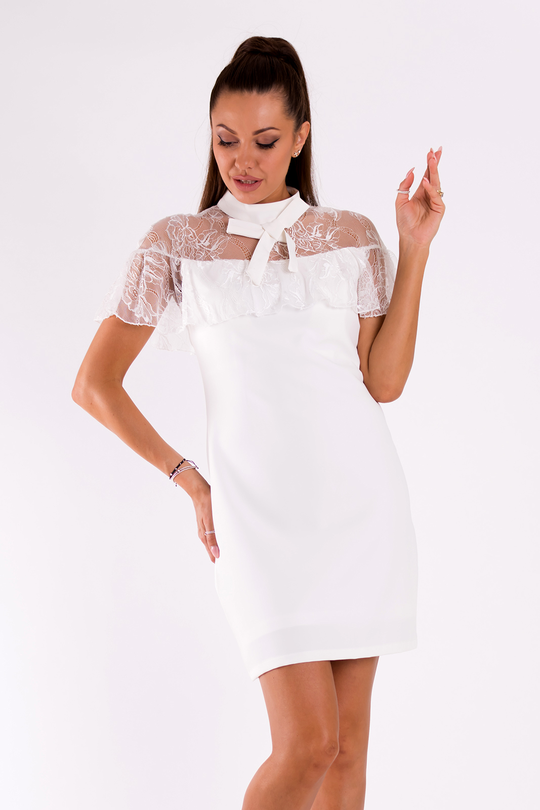 SOKY SOKA  DRESS WHITE 49007-2
