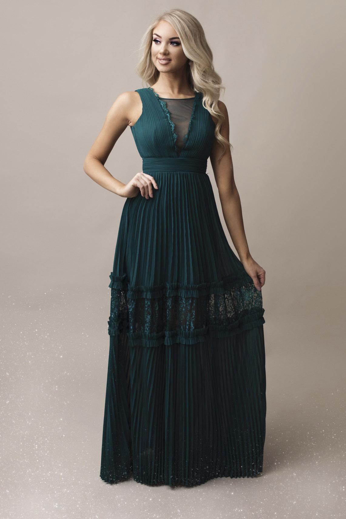SENAT BOHO roheline kleit