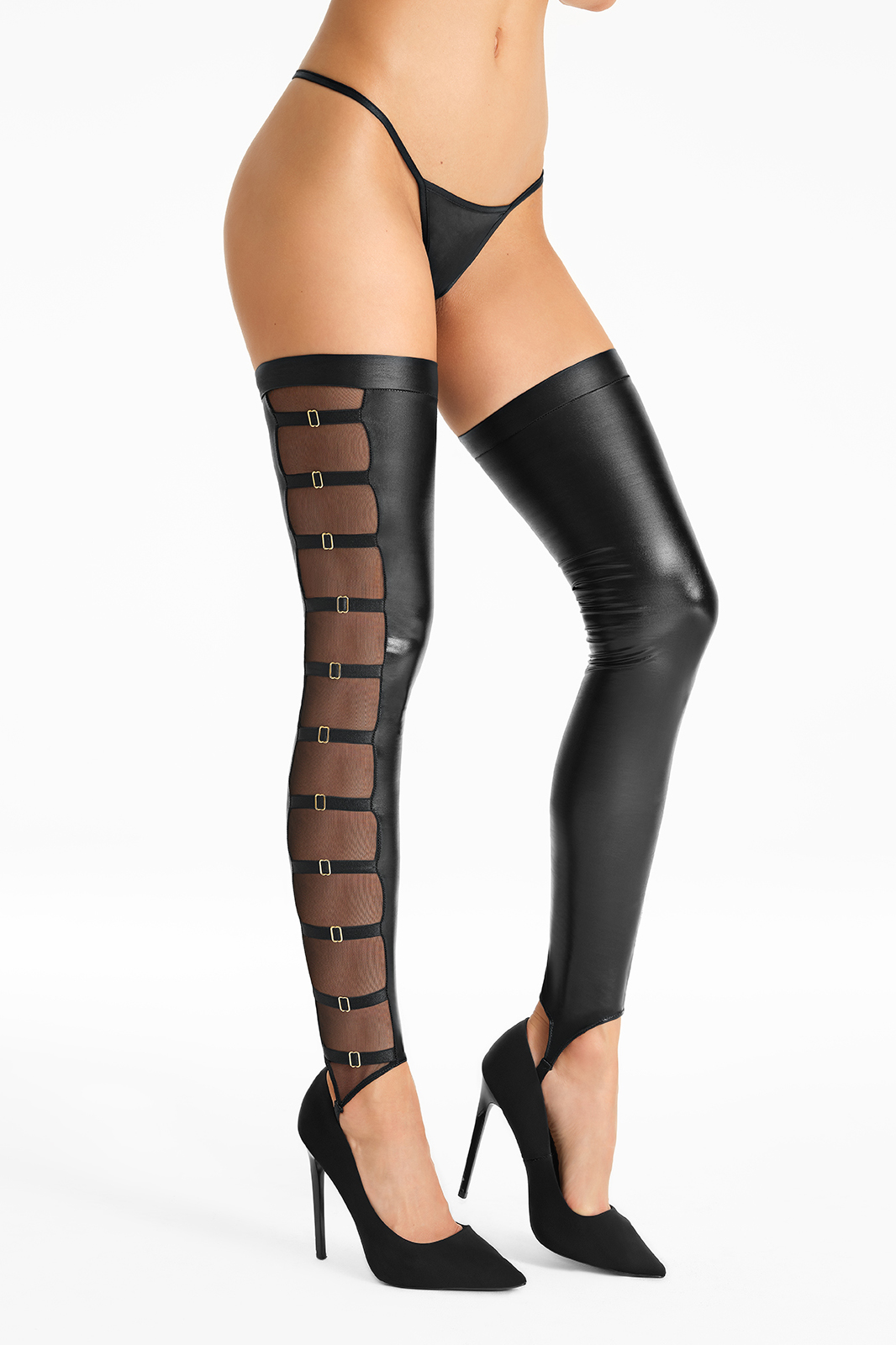 Stockings with sexy straps S54..