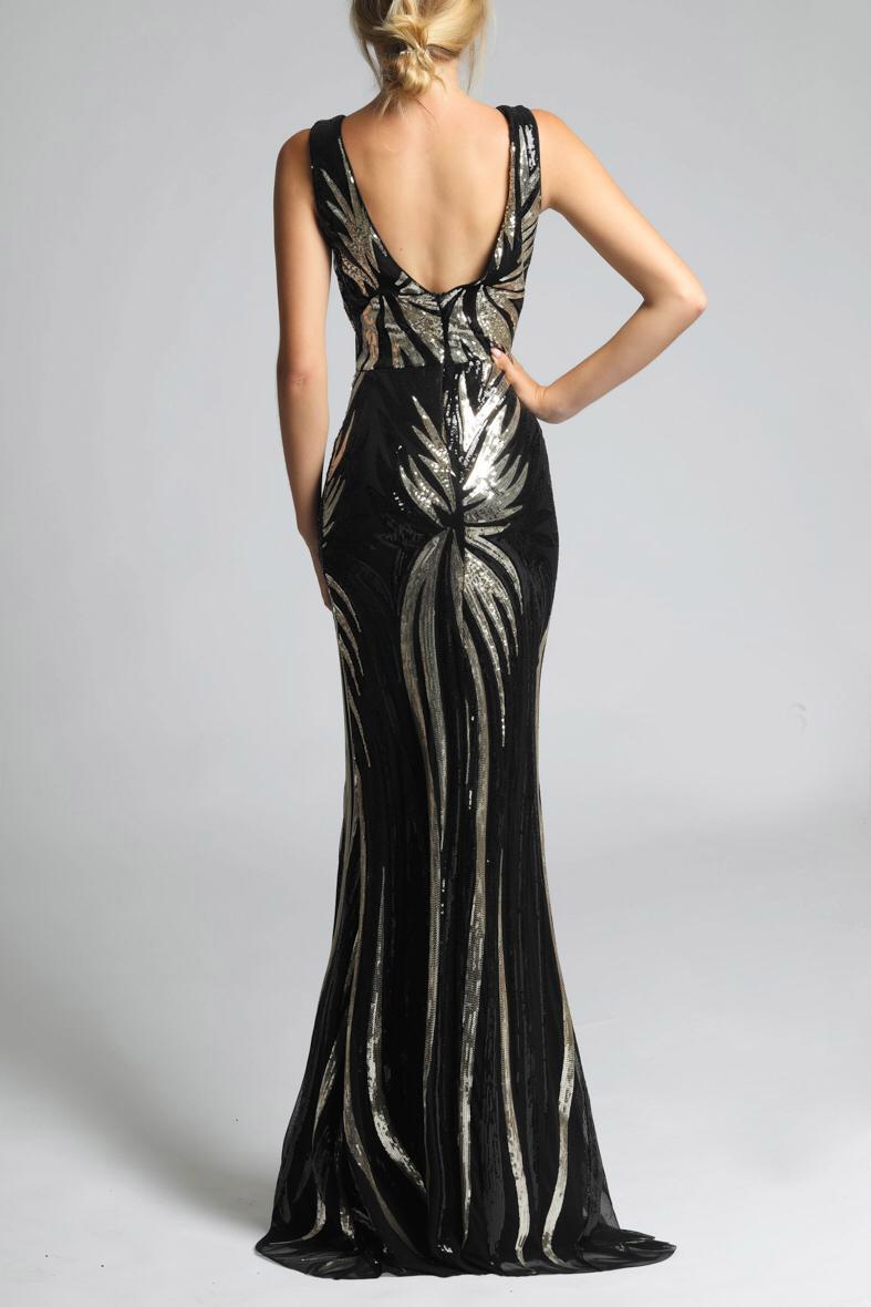 SOKY SOKA  must / kuldne kleit