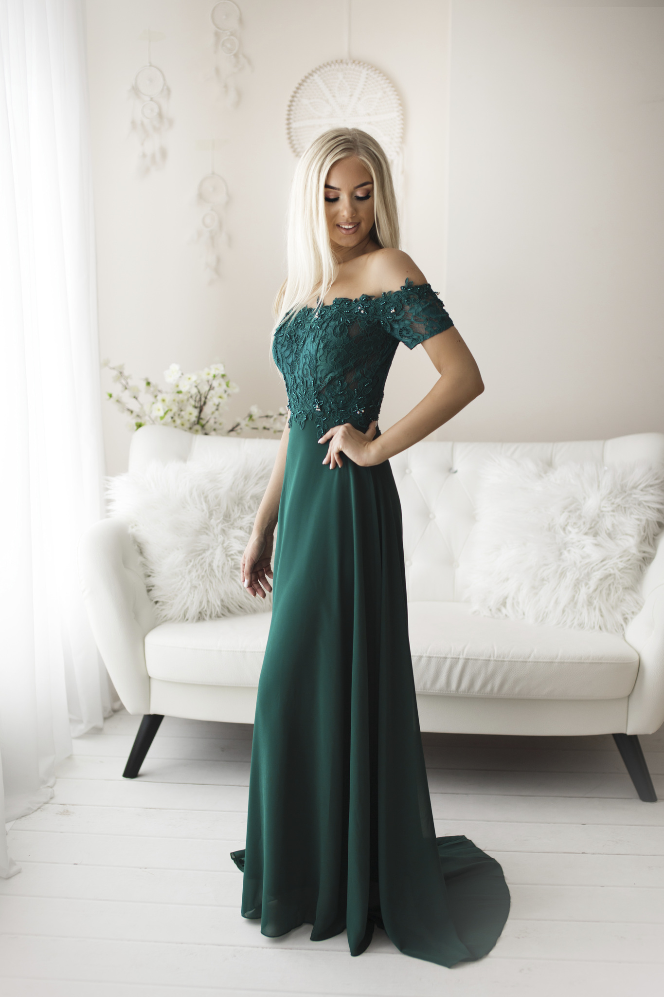 SENAT DELICATE roheline kleit