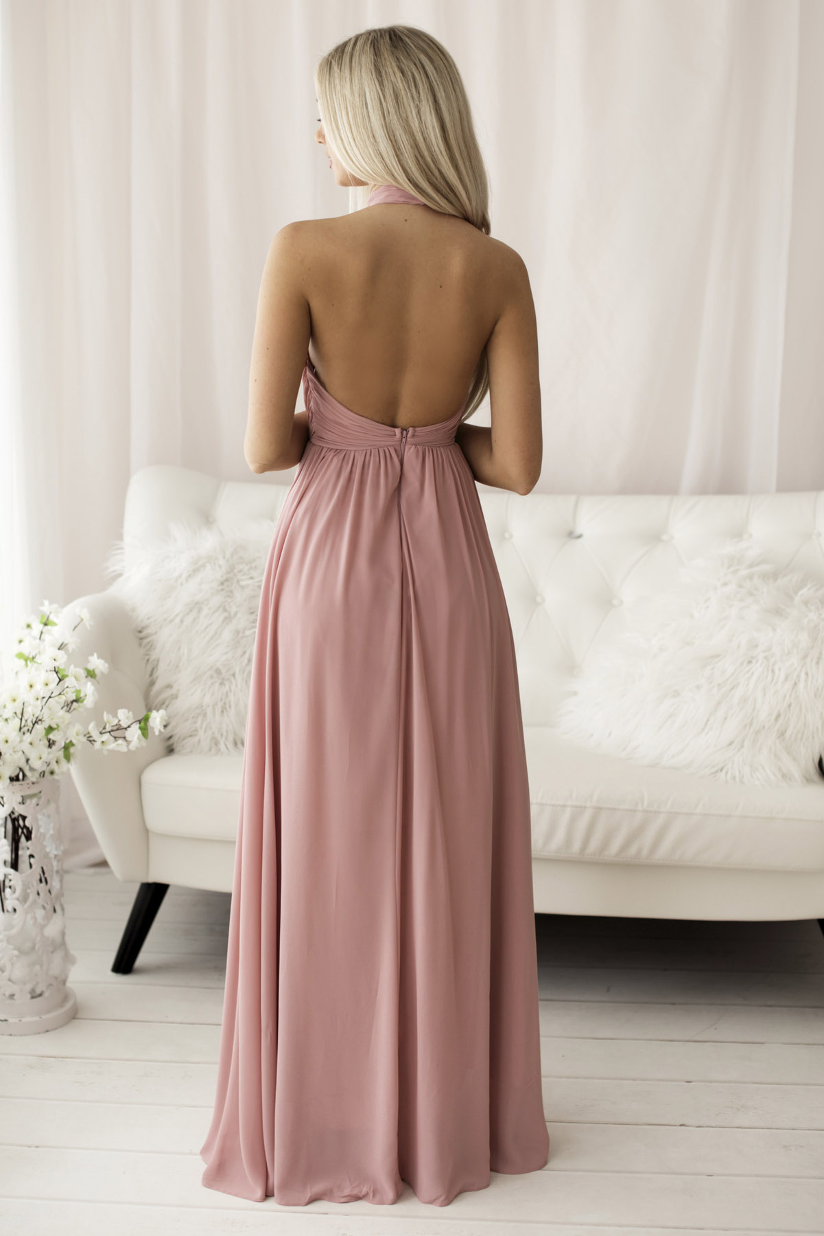 SENAT OPEN BACK  DRESS PINK 68..