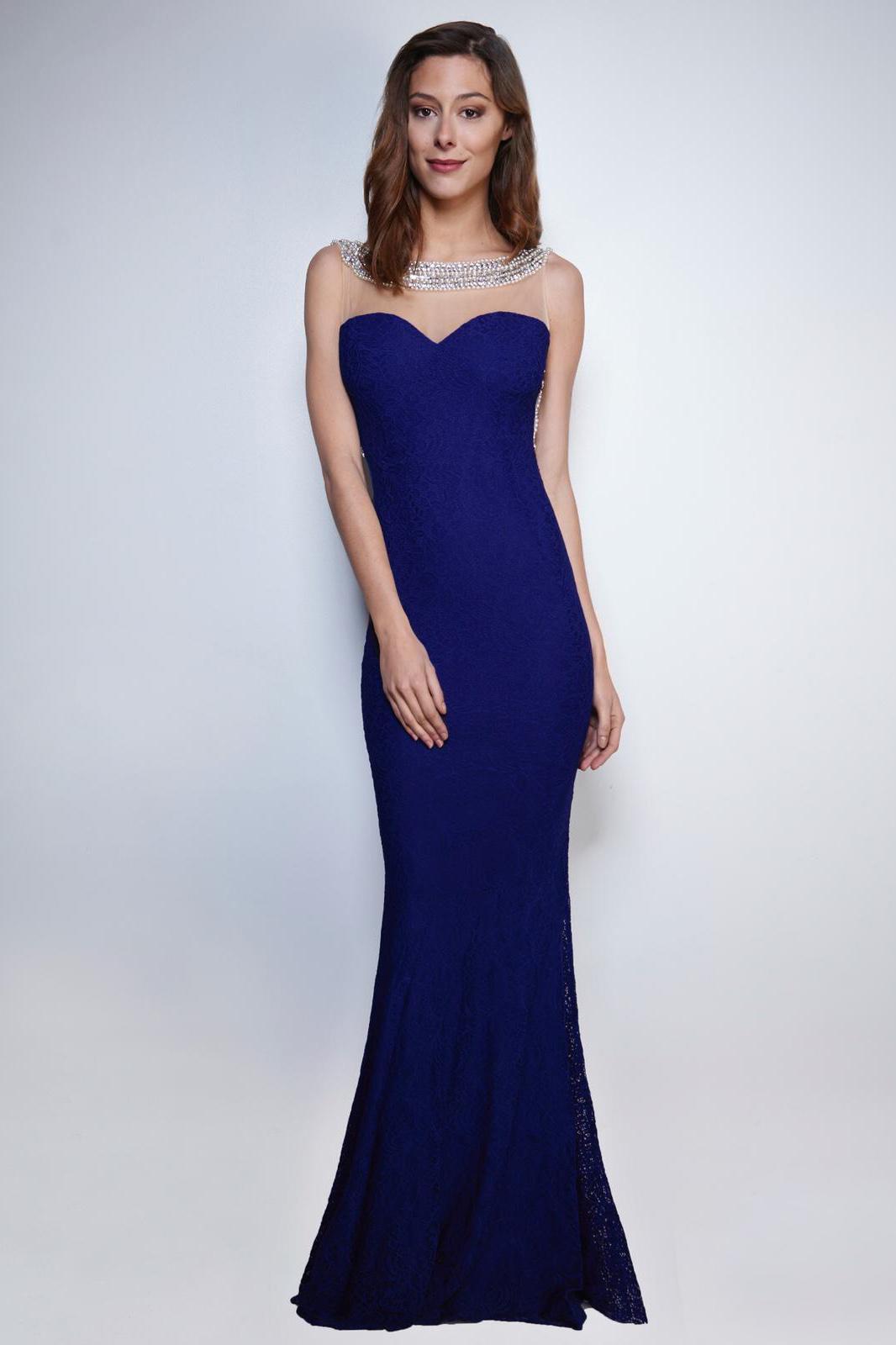 SOKY SOKA DRESS ROYAL BLUE 53017-2