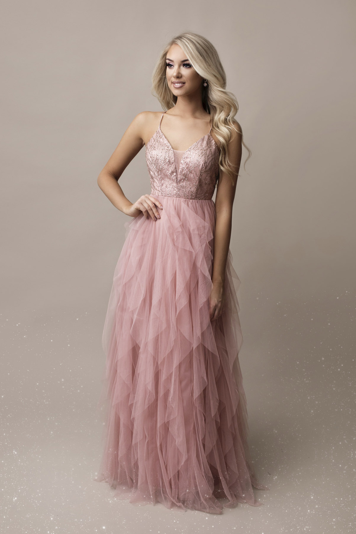 SENAT DIGNIFIED roosa kleit