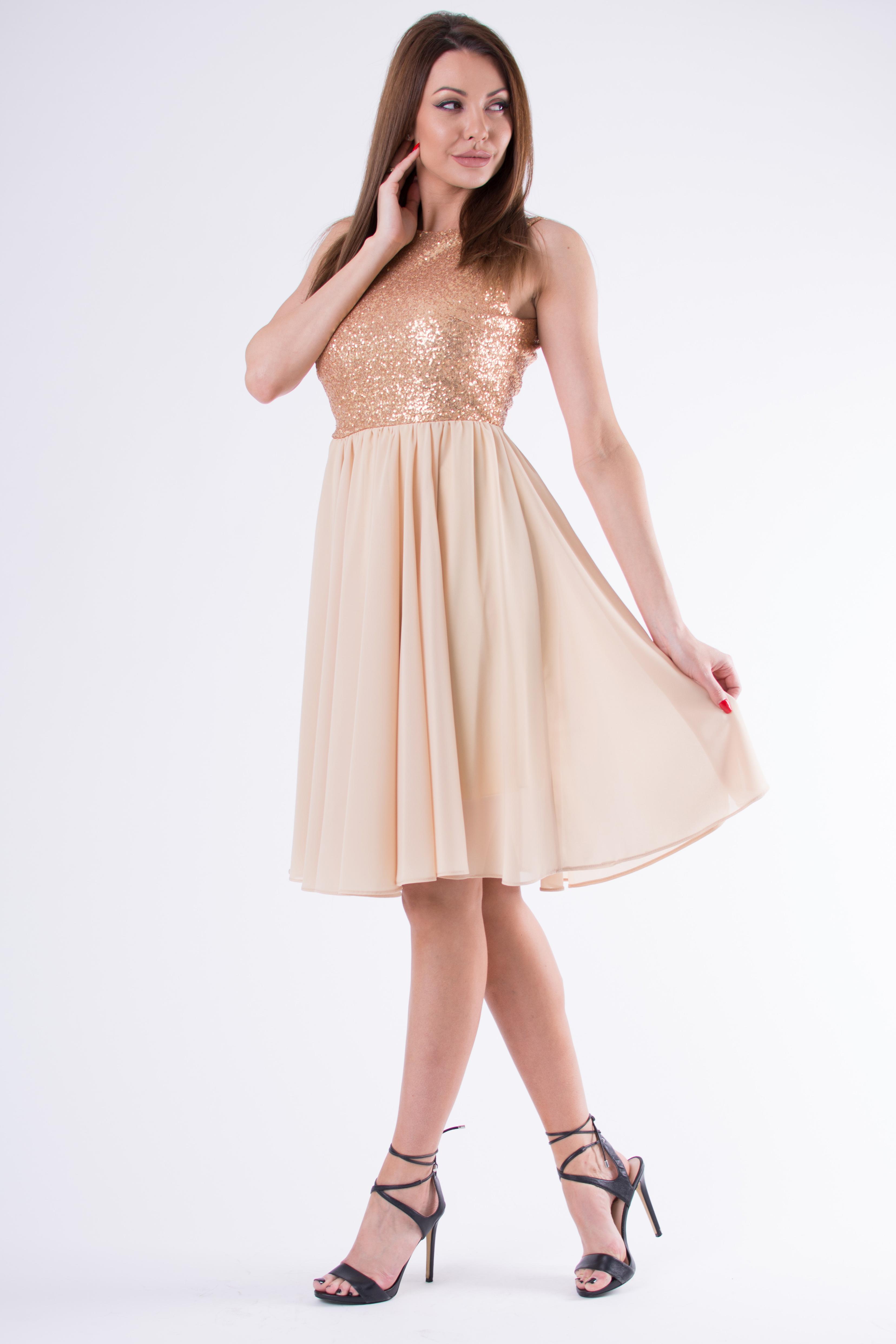EVA & LOLA kuldne kleit