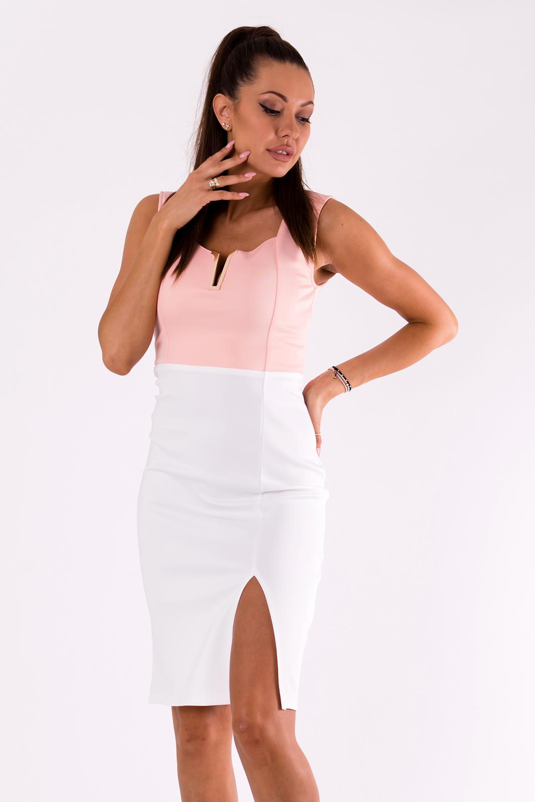 EMAMODA  EMAMODA kleit - valge / roosa