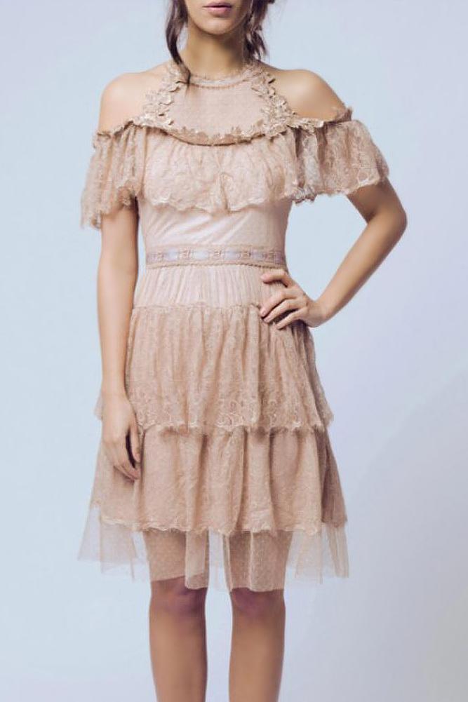 SOKY SOKA  kreemikas kleit