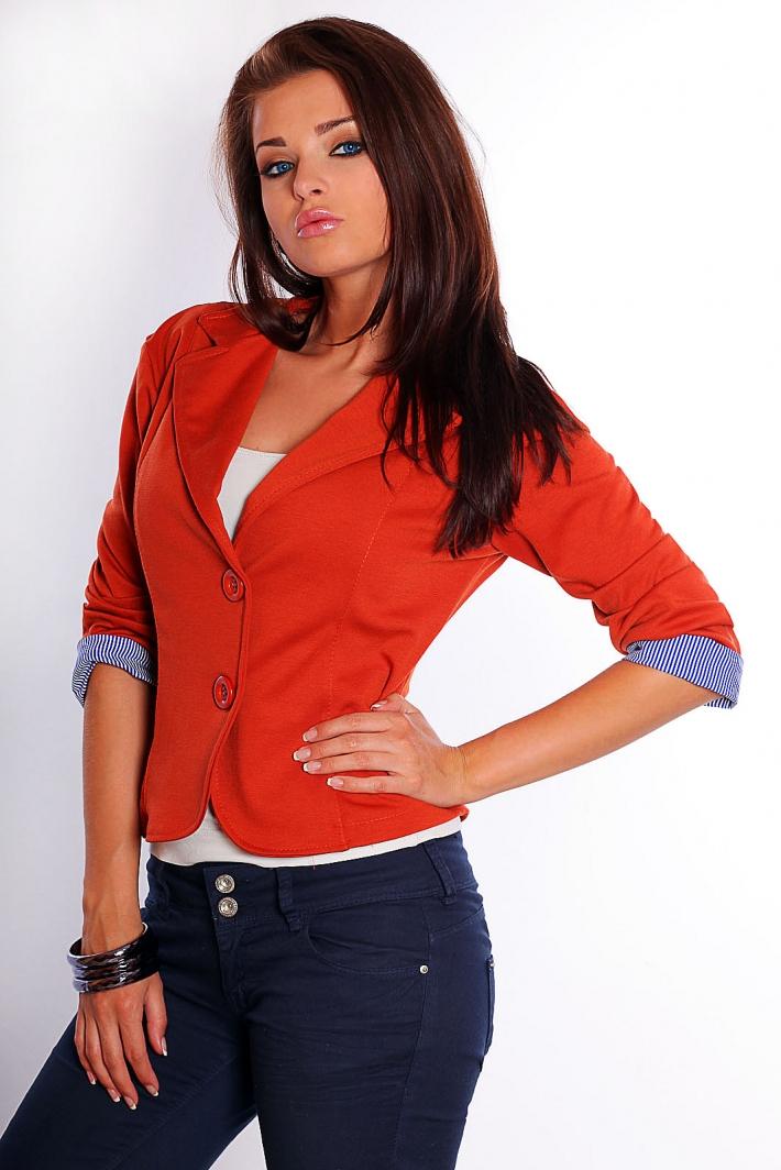 Marynarka jednolorowa - ruda, rudy