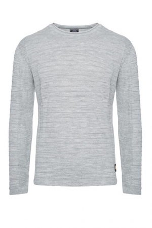 SWETER - SZARY 27005-2