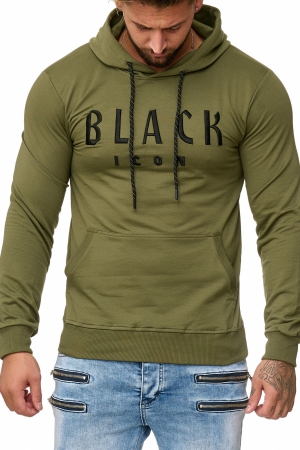 BLUZA MĘSKA BLACK ICON - KHAKI 52004-3